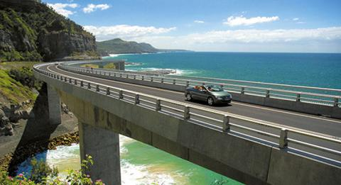 Sea Cliff Bridge, Küste von NSW