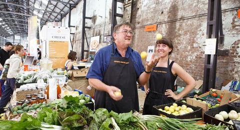 Eveleigh Farmers Markets bei Carriageworks, Sydney