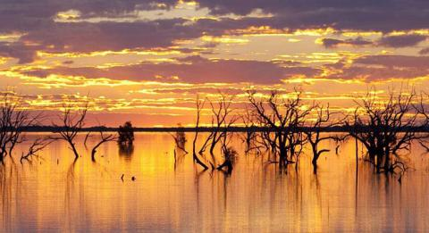 Sunset Strip am Lake Menindee