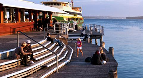 Manly wharf at Manly Cove, Sydney