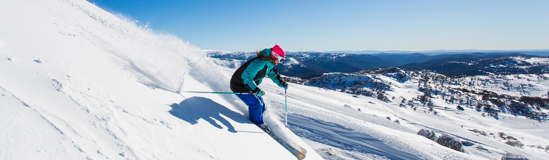Skifahren in Perisher, Snowy Mountains