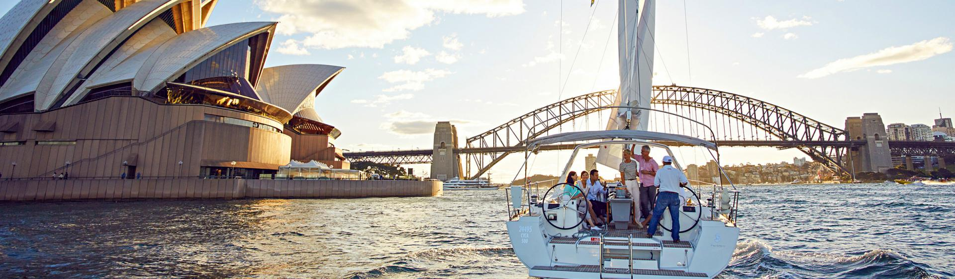 Segeln am Sydney Harbour