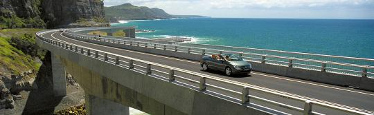 Sea Cliff Bridge, Route von Sydney nach Melbourne