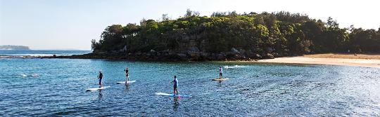 Stehpaddeln, Shelly Beach, Manly