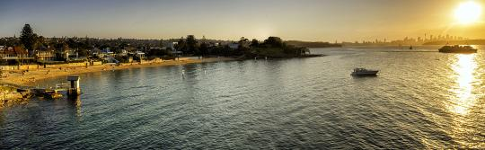 Sonnenuntergang in der Camp Cove, Watsons Bay