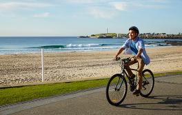 Radfahren am Wollongong Beach, Wollongong